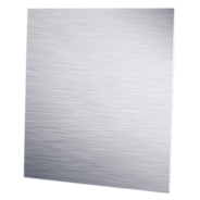 Decorative panels with metal finish