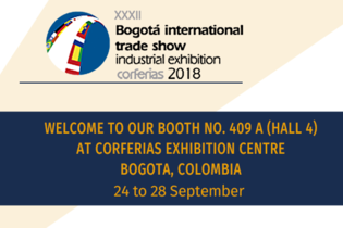 Welcome to our booth at the International Fair of Bogota 2018
