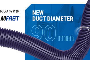 BlauFast modular system has been replenished with 90 mm ducts