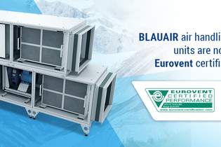 BLAUAIR air handling units are now Eurovent certified