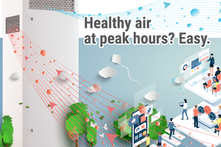 Healthy air at peak hours? Easy