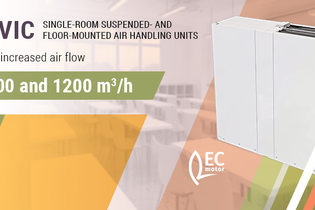 New Civic single-room ventilation units with air flow capacity up to 1,200 m³/h