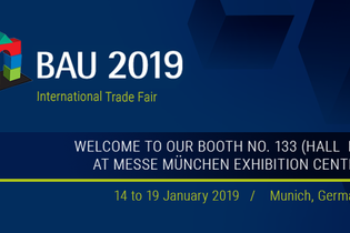 Welcome to our booth at BAU 2019