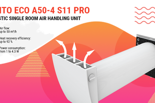VENTO ECO A50-4 S11 Pro: practical solutions for energy-efficient ventilation of domestic spaces