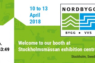 Welcome to our booth at Nordbygg 2018