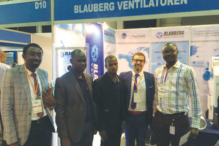 Blauberg ventilation equipment presented at Mega Clima HVAC Expo 2018 in Nigeria