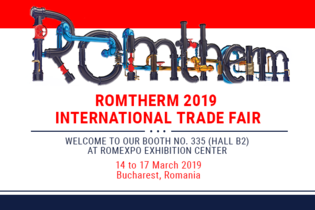 Welcome to our booth at Romtherm 2019
