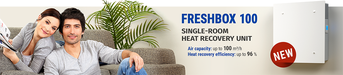 FRESHBOX 100 - single-room heat recovery unit