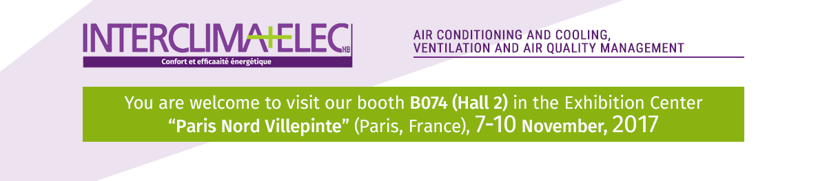 "You are welcome to visit our stand at the exhibition ""Interclima+Elec - 2017"""
