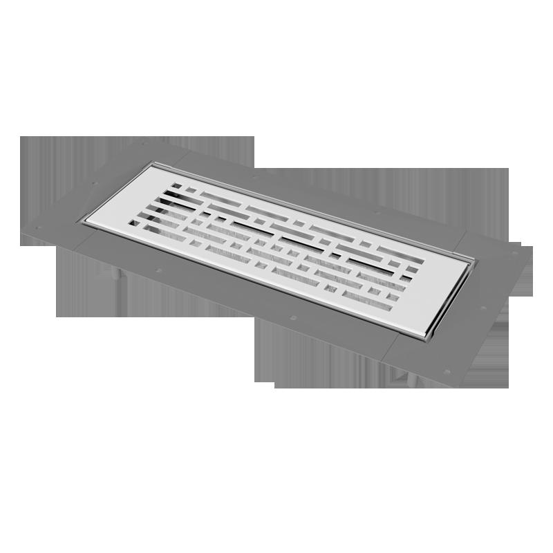 Floor-mounted metal grille BlauFast GF 300x100 03