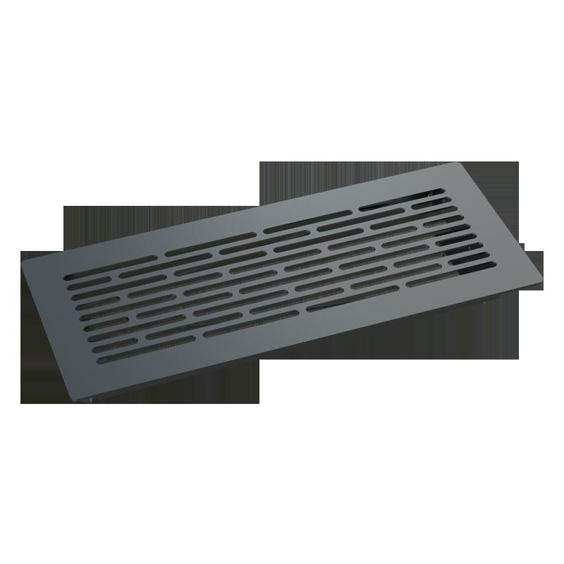 Floor-mounted metal overlay grille BlauFast GF 300x100 08