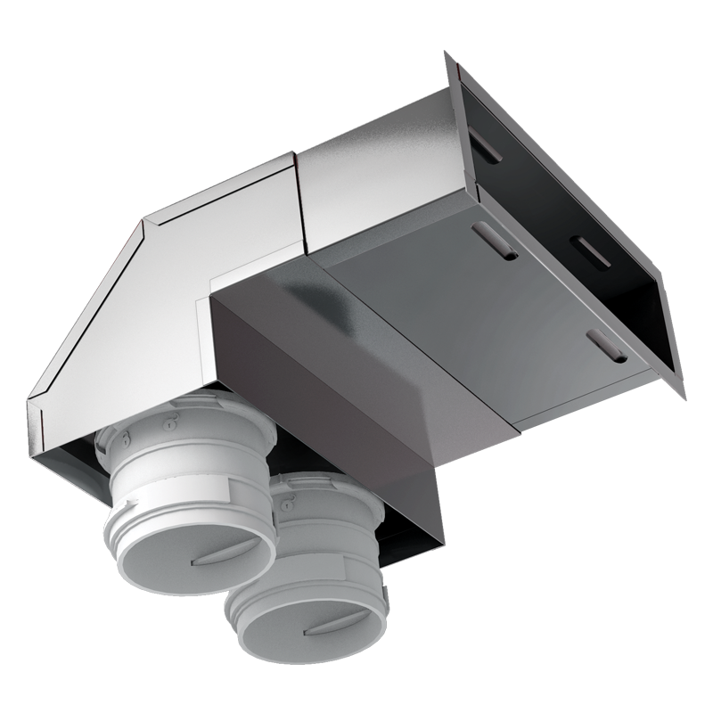 Wall-mounted metal connector BlauFast RPWB ... M