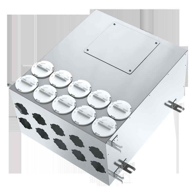 Metal air distribution box BlauFast SR 150/..x10 01