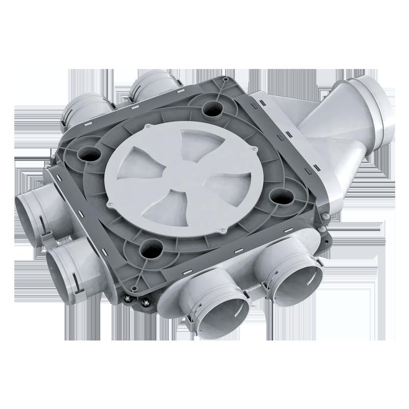 Коллектор пластиковый BlauFast SR 125/75x6 51P
