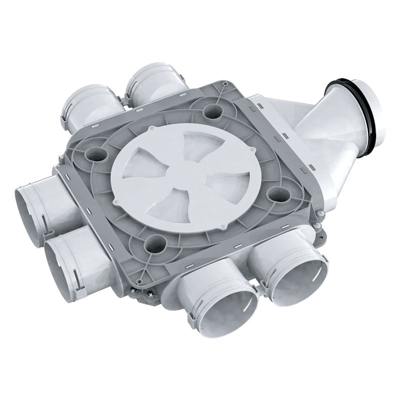 Коллектор пластиковый BlauFast SR 125/90x6 51P