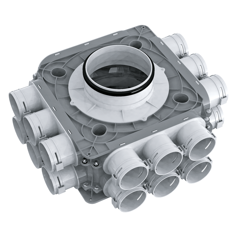 Коллектор пластиковый BlauFast SR ../63x18 51P