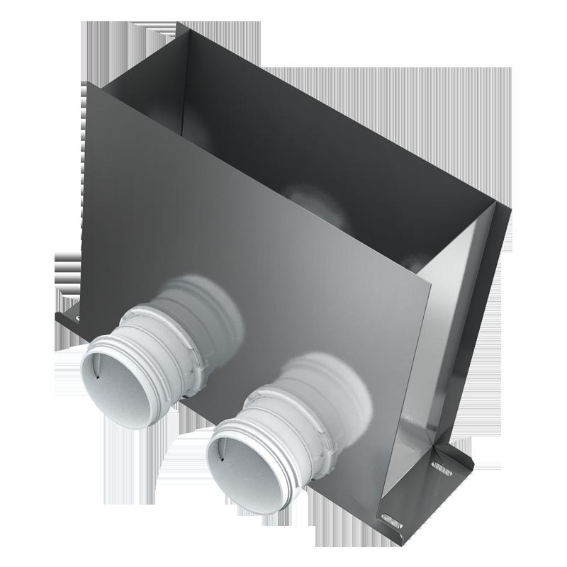 Floor mounted connector BlauFast RPF 300x100/75x2 M