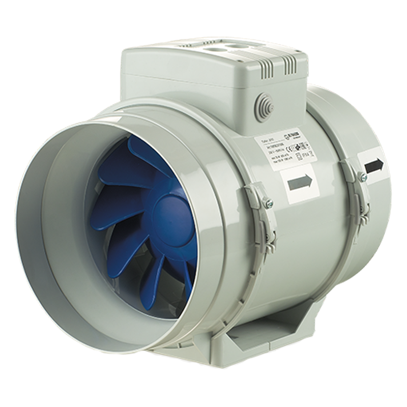 Inline Mixed Flow Fans For Round Ducts Turbo Blauberg