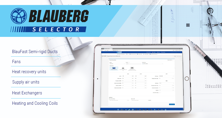 Blauberg Selector: your assistant in choosing ventilation equipment